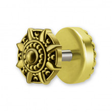 BRASS TRIBAL FAKE PLUG 1,2x6mm mod.5