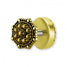 BRASS TRIBAL FAKE PLUG 1,2x6mm mod.6