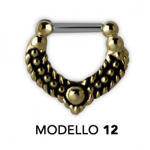 TRIBAL BRASS SEPTUM CLICKERS MODEL 12
