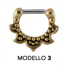 TRIBAL BRASS SEPTUM CLICKERS MODEL 3