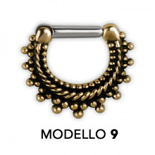 TRIBAL BRASS SEPTUM CLICKERS MODEL 9