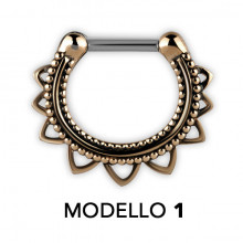 TRIBAL BRASS SEPTUM CLICKERS MODEL 1