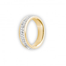 GD 316 DOUBLE JEWELLED CRYSTAL RING
