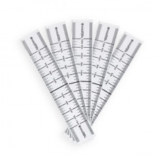 BodySupply Disposable Adhesive Eyebrow Ruler 50pcs - Type 1