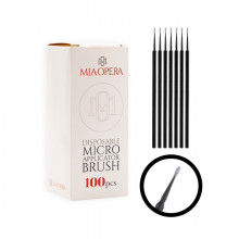 MiaOpera Black Micro Applicator Brush 100pcs