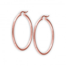 RG 316 STEEL ROUND HOOP EARRINGS (2mm)