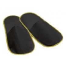 Closed slippers Black - pair - Polybag 50pairs