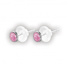 FLAT JEWELLED DISC EAR STUDS