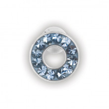 FAKE JEWELLED FLESH TUNNEL EAR STUDS
